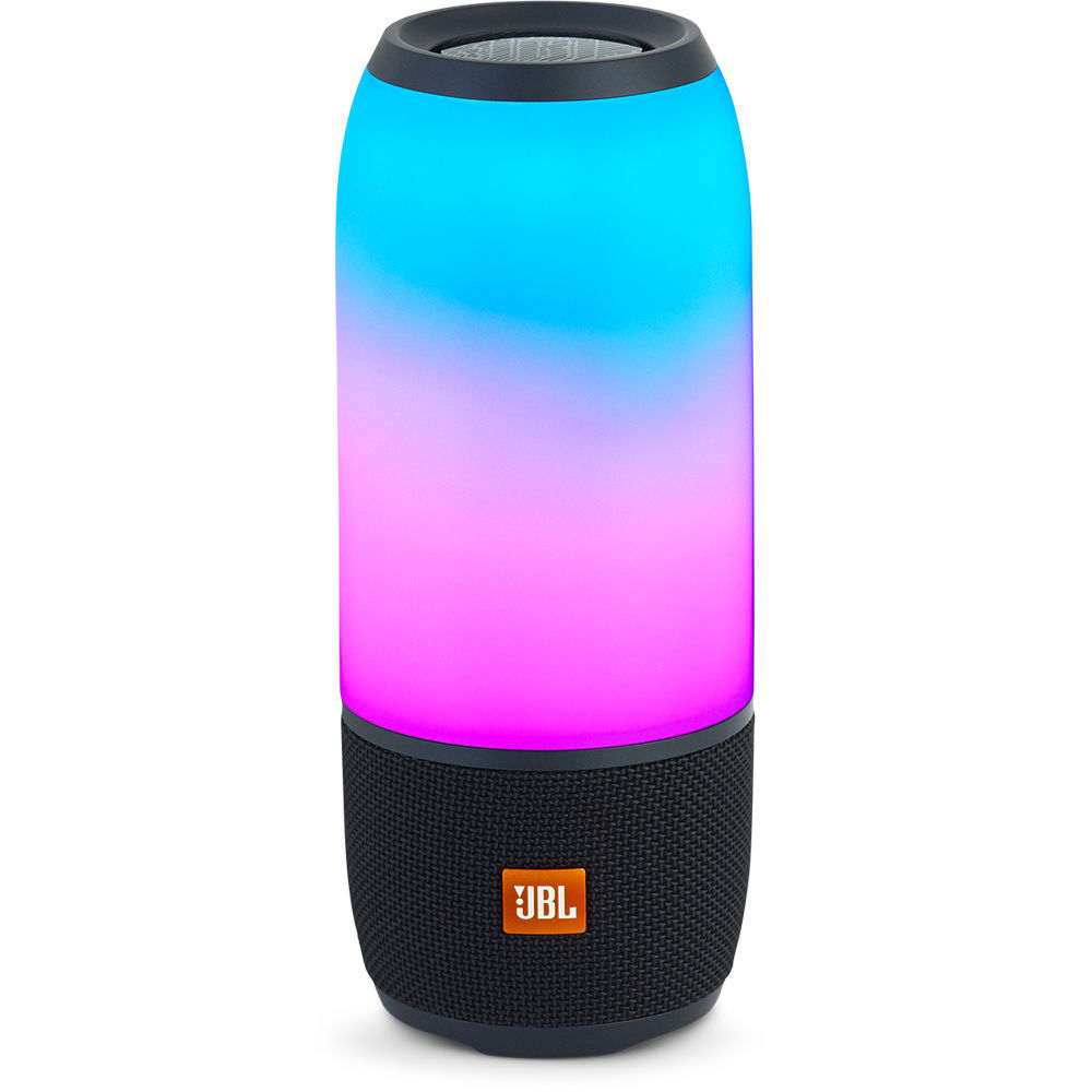jbl pulse 3 portable bluetooth speaker black jblpulse3blkam. Black Bedroom Furniture Sets. Home Design Ideas