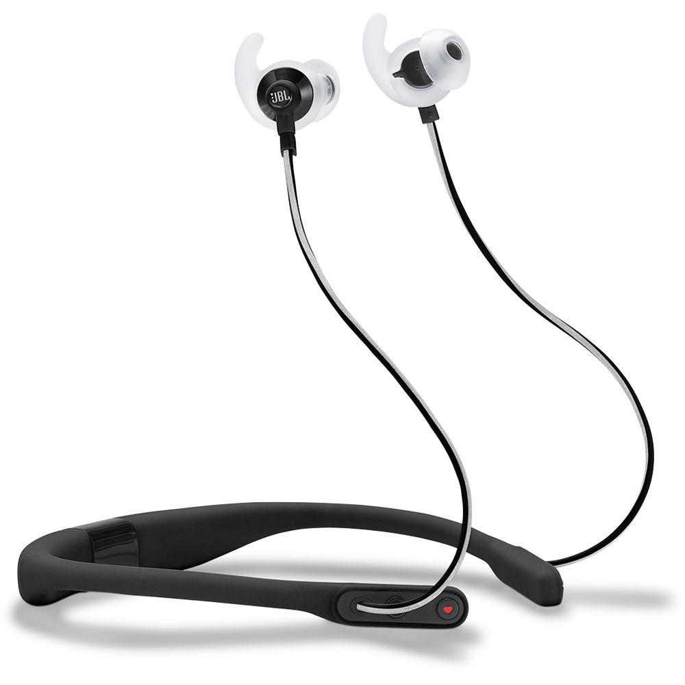 jbl reflect fit heart rate wireless headphones jblreffitblk b h. Black Bedroom Furniture Sets. Home Design Ideas