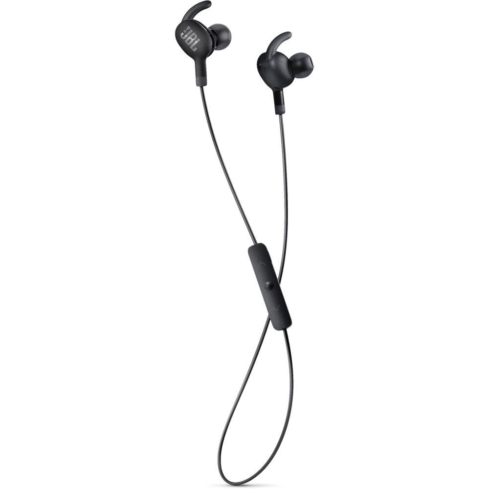 jbl everest 100 wireless earbuds black v100btblk b h photo. Black Bedroom Furniture Sets. Home Design Ideas