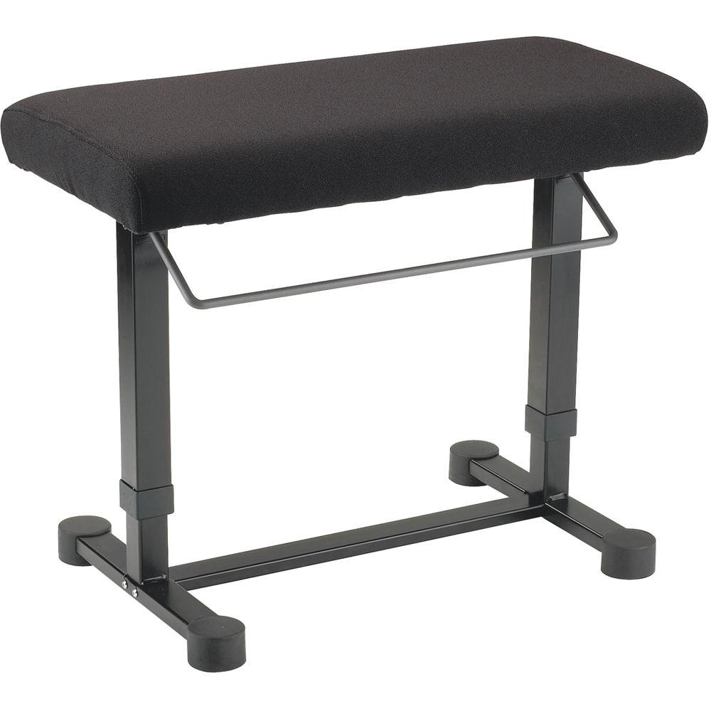 K Amp M 14081 Uplift Piano Bench Fabric Black 14081 000 55 B Amp H