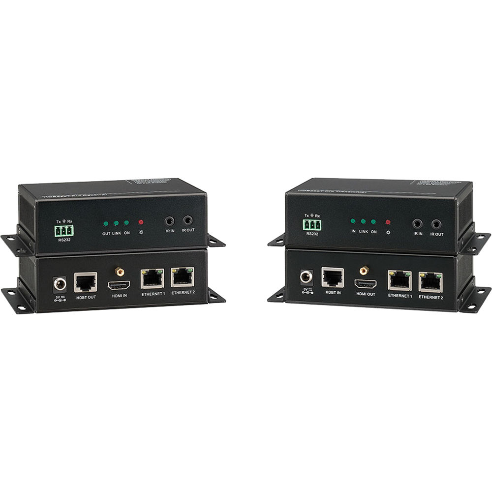 KanexPro HDBaseT Extender with 2-Port Ethernet HDBASE100ME B&H