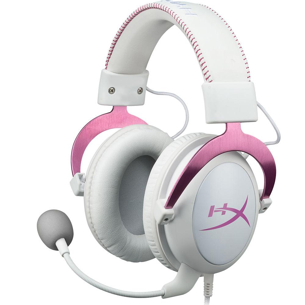 kingston hyperx cloud ii gaming headset pink khx hscp pk b h. Black Bedroom Furniture Sets. Home Design Ideas