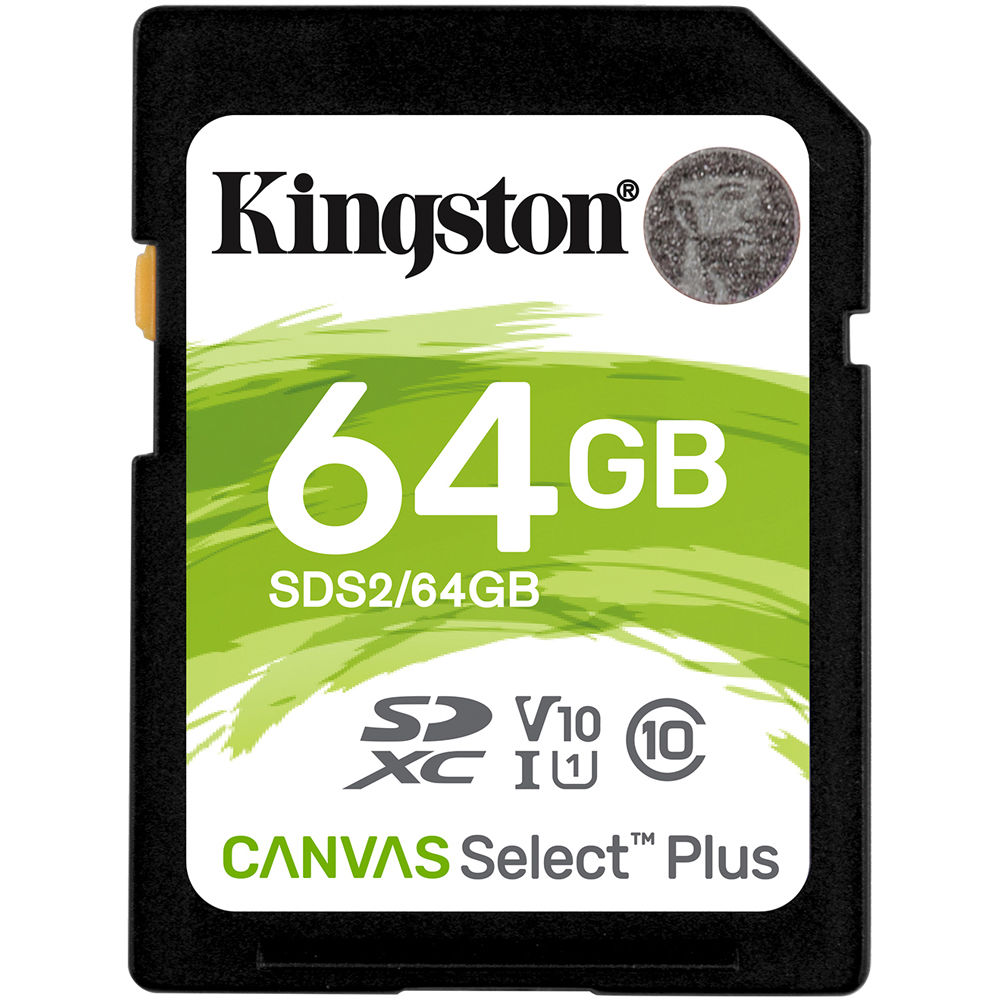 Kingston 64GB Spice Mobile Stellar 517 MicroSDXC Canvas Select Plus Card Verified by SanFlash. 100MBs Works with Kingston