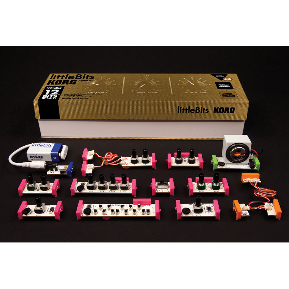 korg littlebits synth kit modular analog synthesizer synthkit. Black Bedroom Furniture Sets. Home Design Ideas