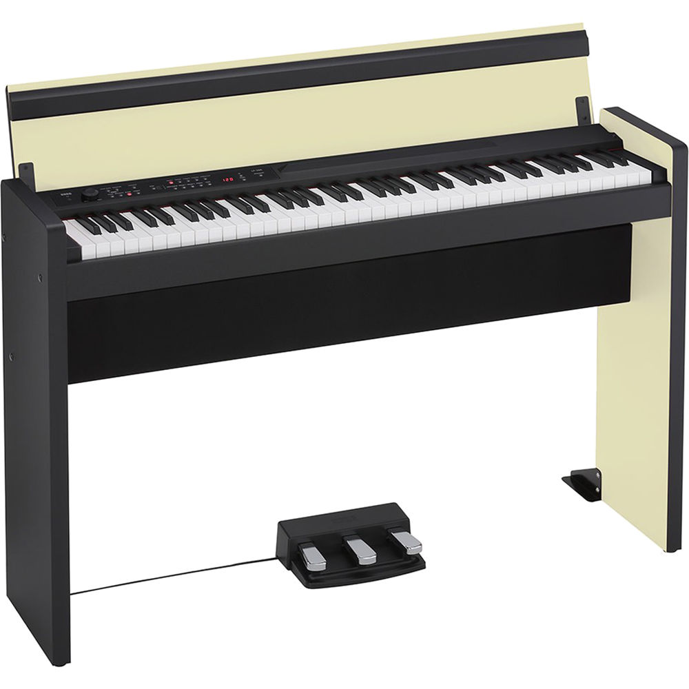 korg lp 380 73 key digital piano cream black lp38073cb b h. Black Bedroom Furniture Sets. Home Design Ideas