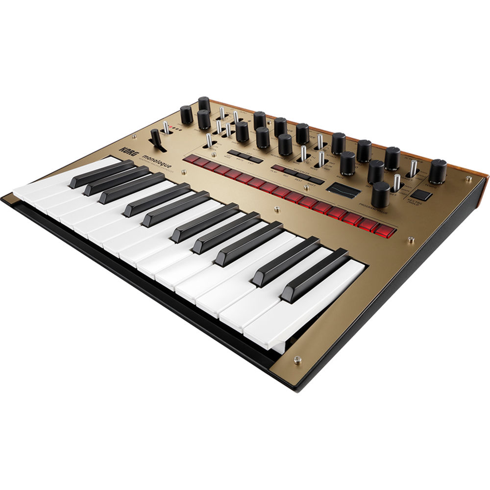 korg monologue monophonic analog synthesizer gold monologuegd. Black Bedroom Furniture Sets. Home Design Ideas