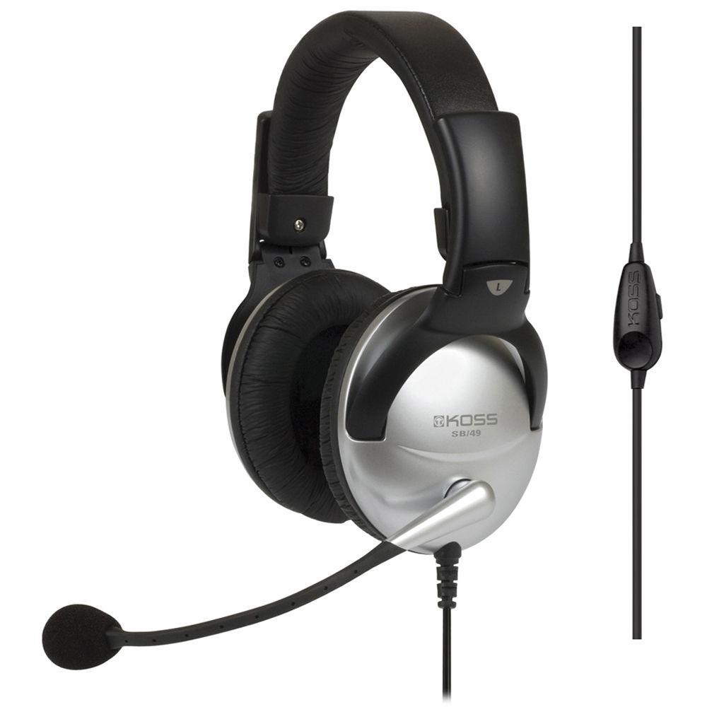 Koss SB49 Full Size Communication Headset 186008 B&H Photo Video