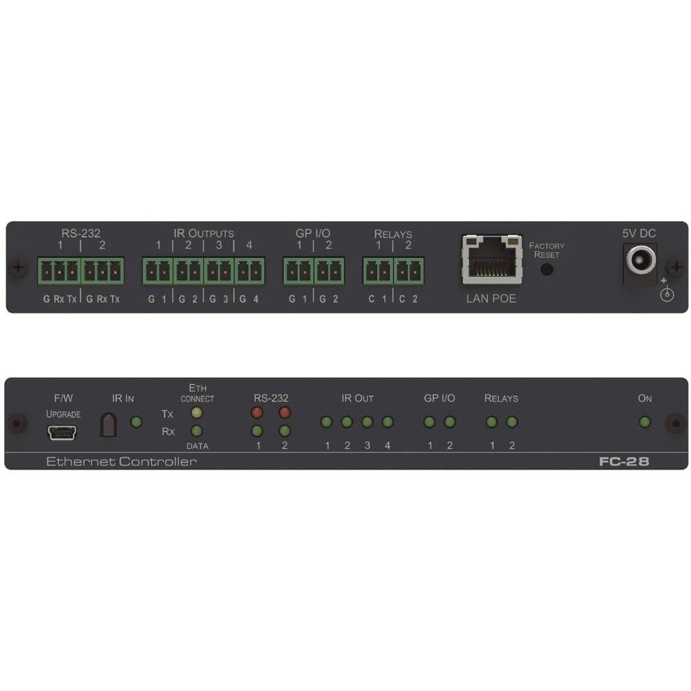 Kramer 10 Port Serial Ir Gpi O And Relay Poe Control Fc 28 Power Ethernet