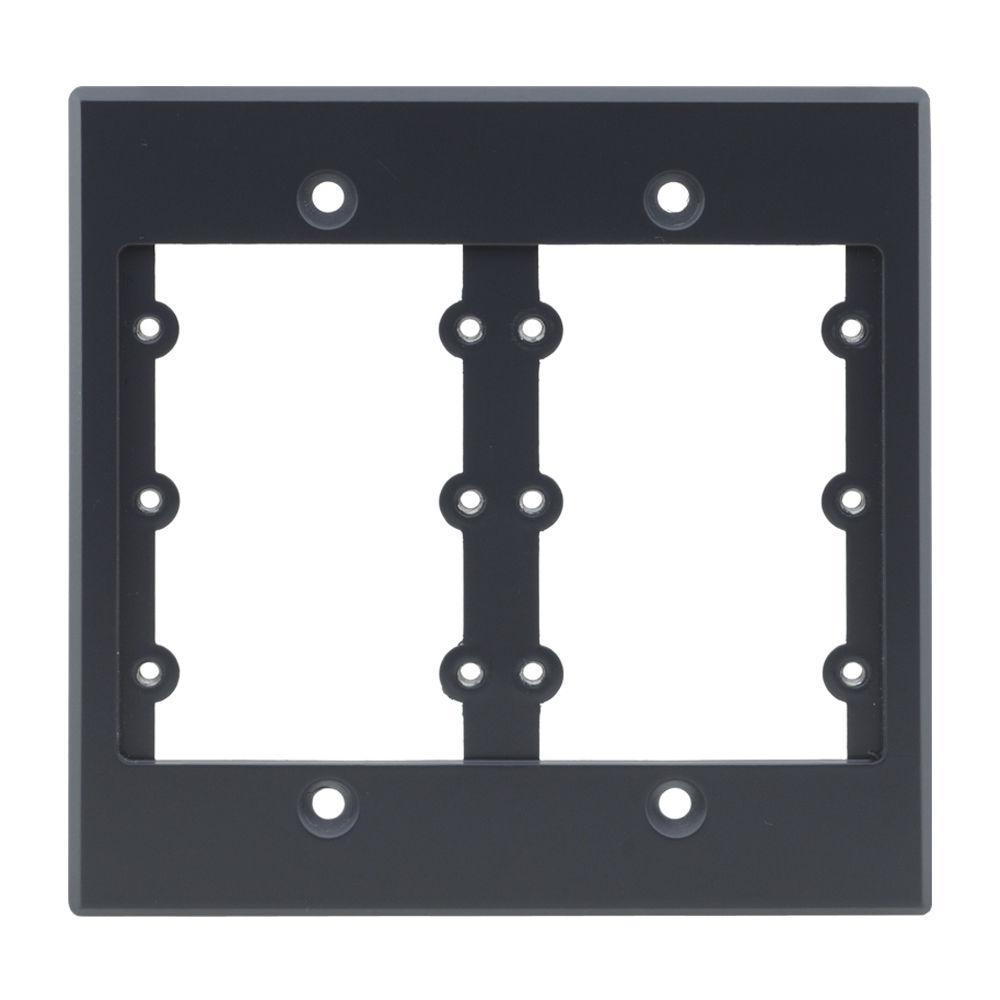 Kramer Two-Gang Frame for Wall Plate Inserts (Gray) FRAME-2G(G)