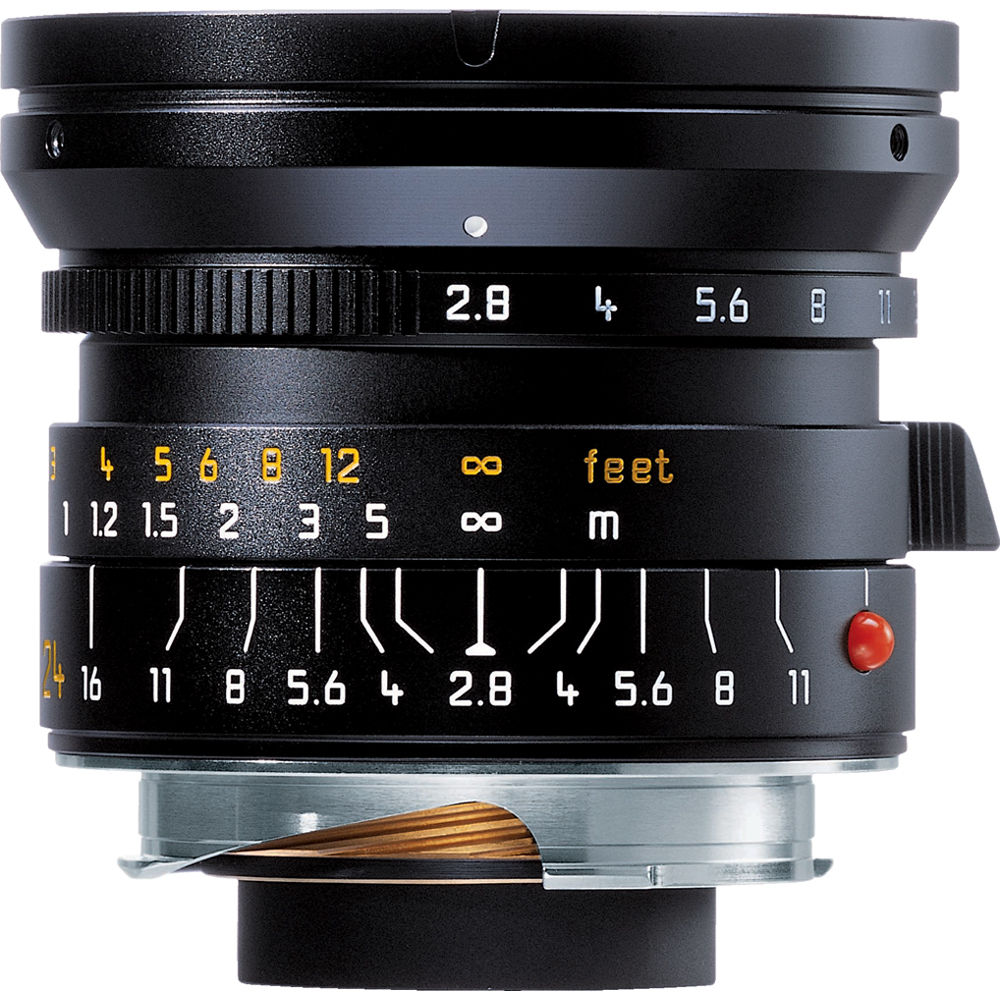 Leica 24mm f/2.8 Elmarit M Asph. Manual Focus Lens (6-Bit