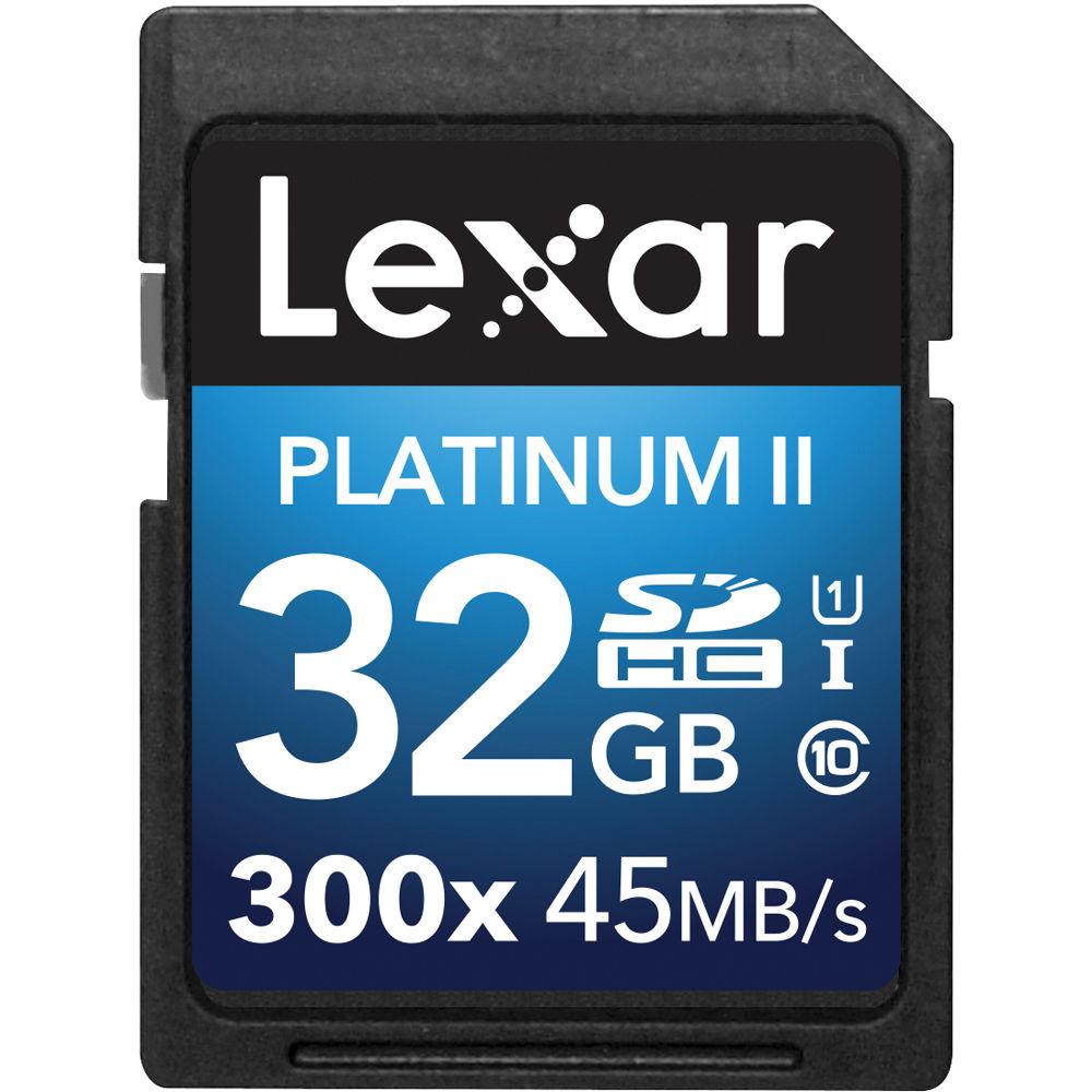 32 gigabyte sd - Lexar 32gb Platinum Ii Uhs I 300x Sdhc Memory Card Class 10