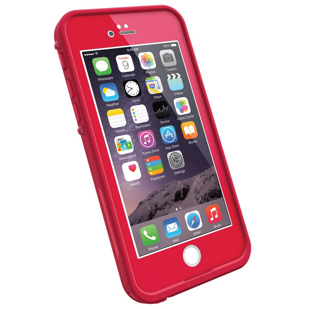 Red Lifeproof Case Iphone