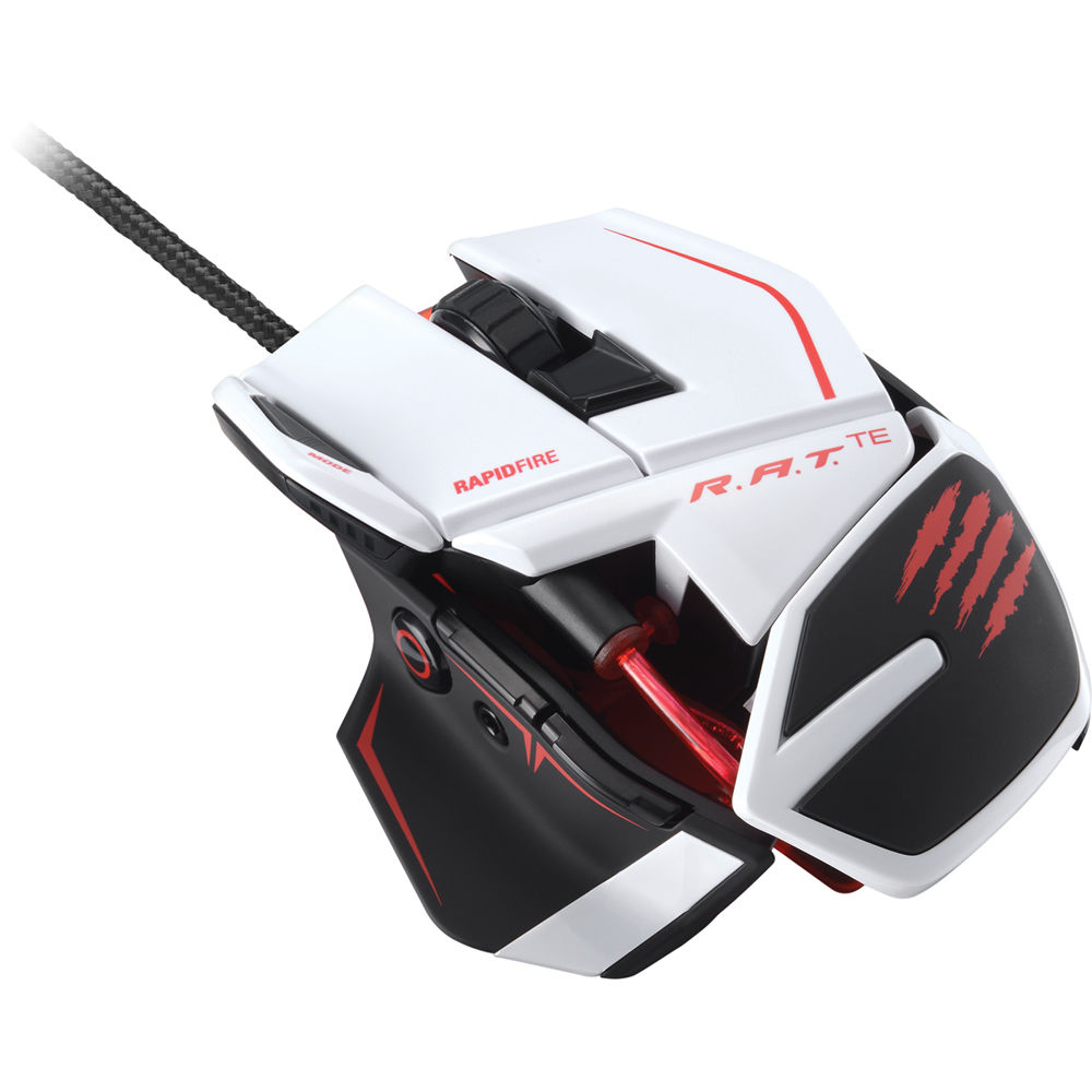 Mad Catz R.A.T. TE Gaming Mouse (White) MCB437040001/04/1 B&H