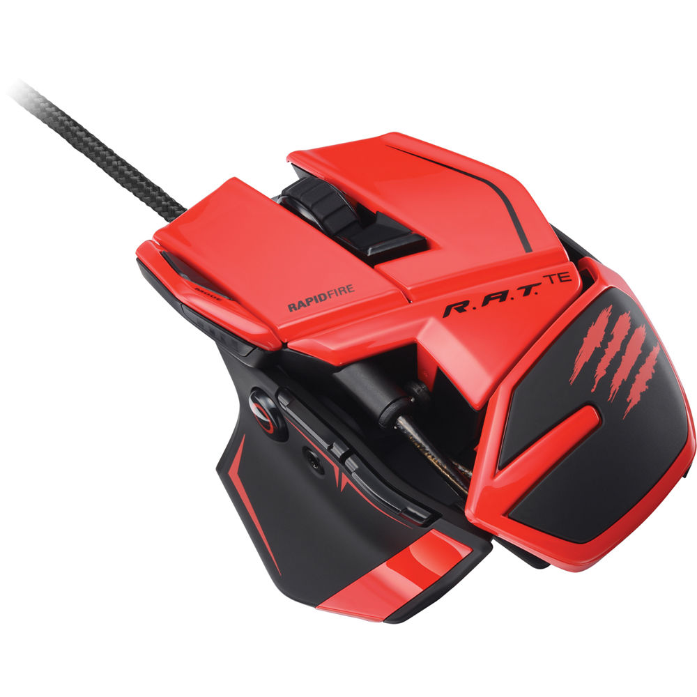 Mad Catz R.A.T. TE Gaming Mouse (Red) MCB437040013/04/1 B&H