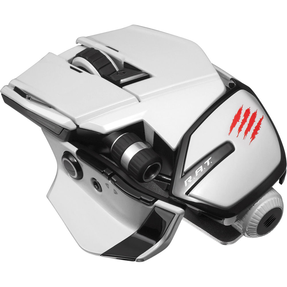 mad catz office r a t  wireless mouse  white  mcb437240001