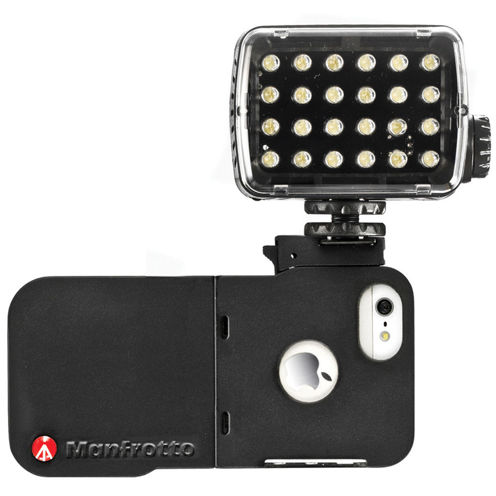 manfrotto klyp iphone 5 case with ml240 led light mklklyp5 b amp h