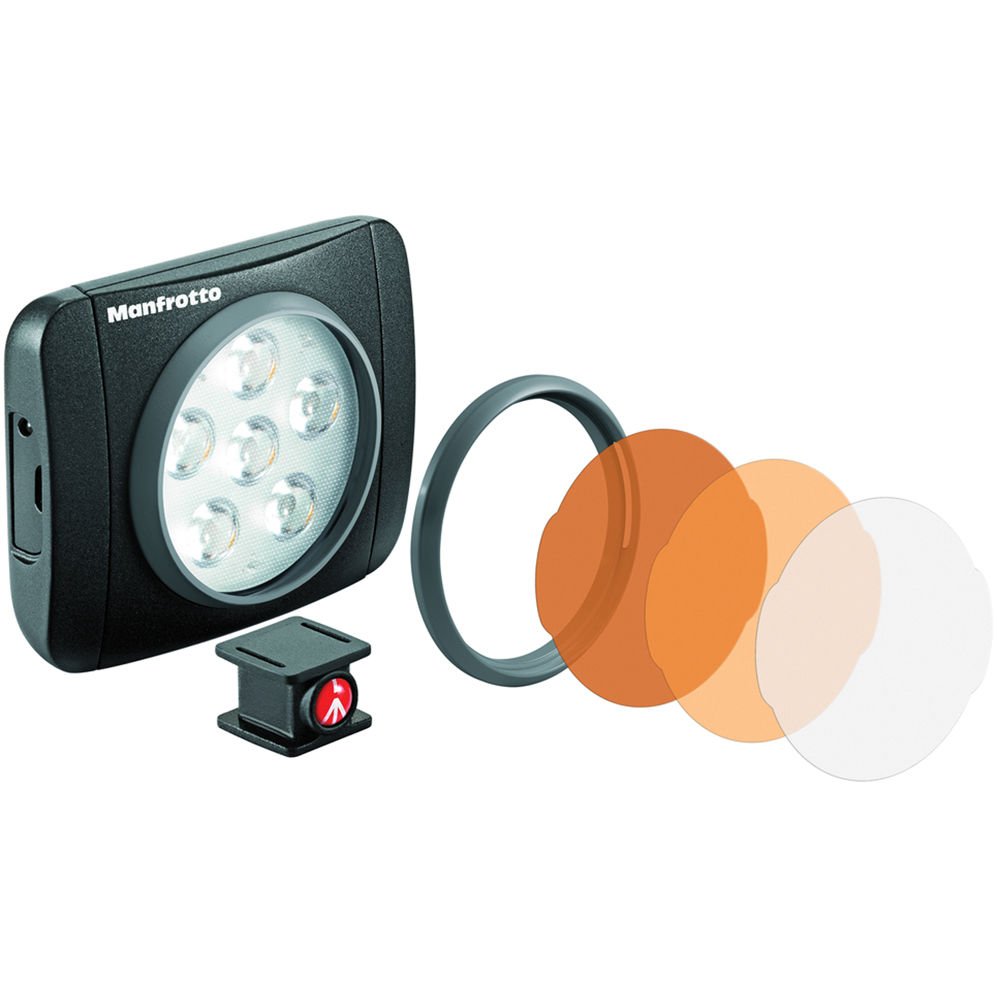 Manfrotto Lumimuse 6 On Camera Led Light Black Mlumieart Bk