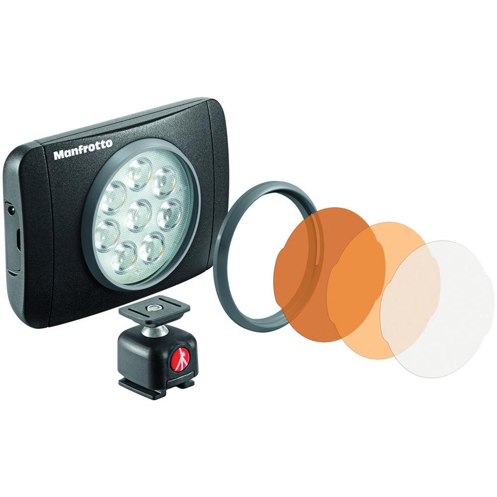 Manfrotto Lumimuse 8 On-Camera LED Light (Black) MLUMIEMU