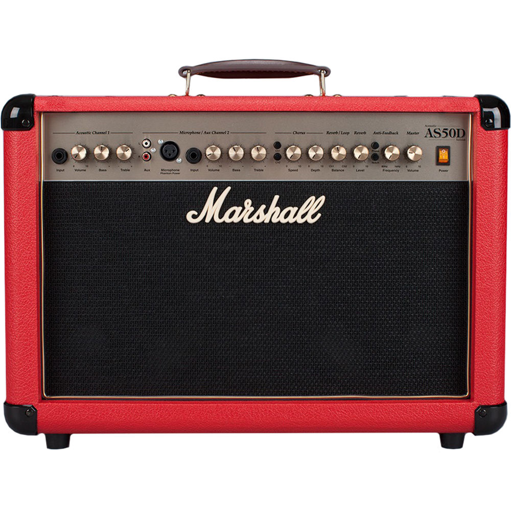 marshall amplification as50d 50w 2x8 2 channel as50dr u. Black Bedroom Furniture Sets. Home Design Ideas