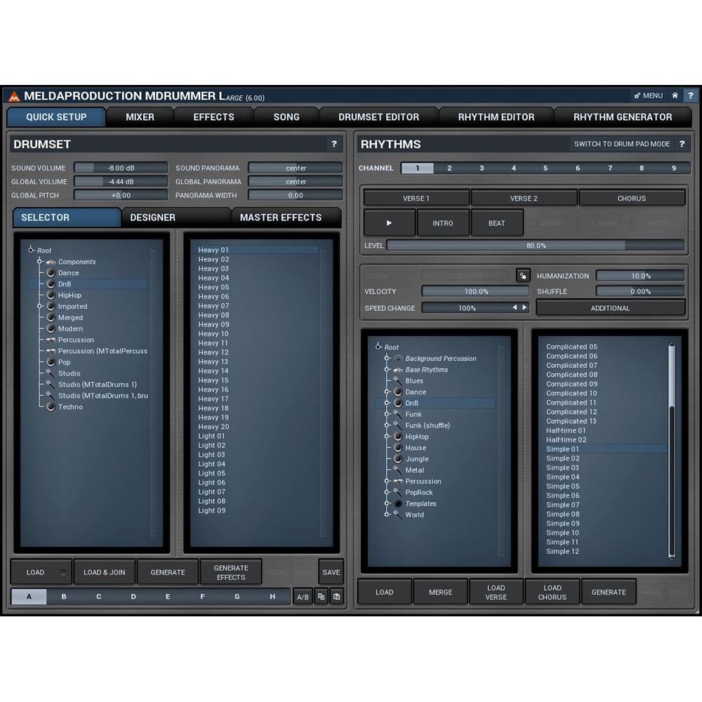 meldaproduction mdrummer large drum machine and 11 30114 b h. Black Bedroom Furniture Sets. Home Design Ideas