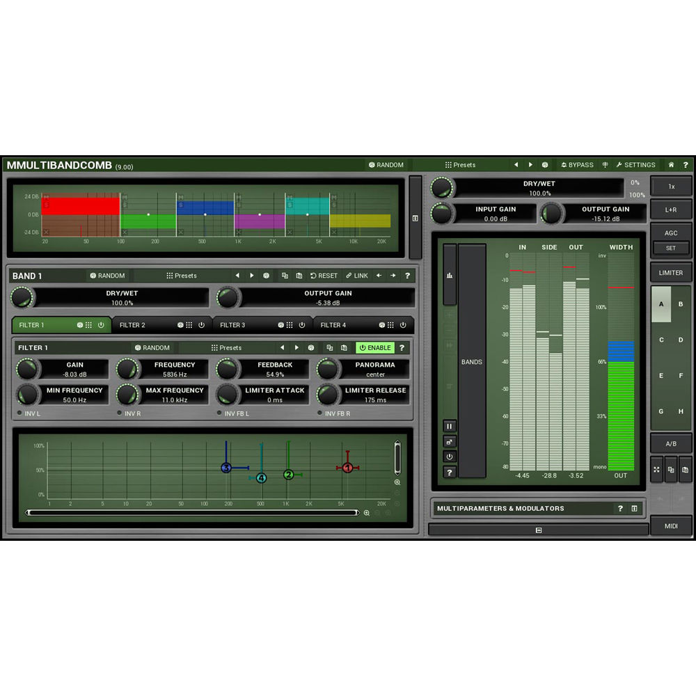 Meldaproduction Mmultibandcomb Multi Comb Filter 11 30158 Bh Multiple Feedback Bandpass Plug In Download