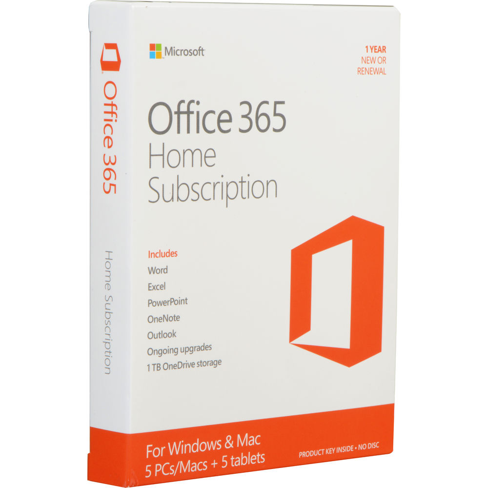 microsoft office 365 home 5 pc or mac licenses 1 year. Black Bedroom Furniture Sets. Home Design Ideas