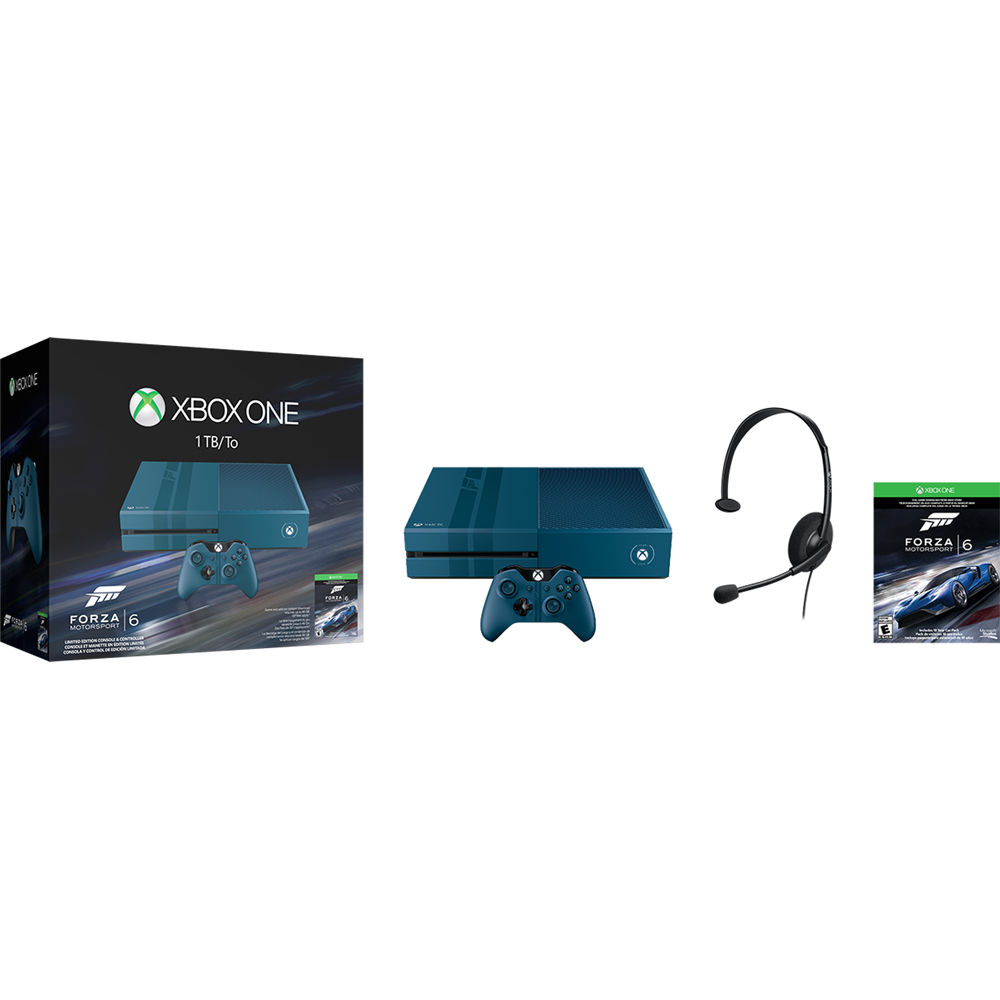 microsoft xbox one limited edition forza motorsport 6 kf6 00053. Black Bedroom Furniture Sets. Home Design Ideas