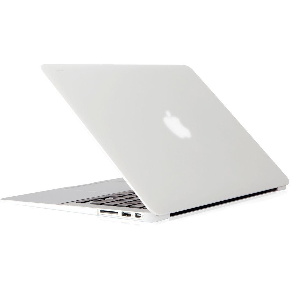 White Macbook Cover : Moshi iglaze hard case for quot macbook air mo b h