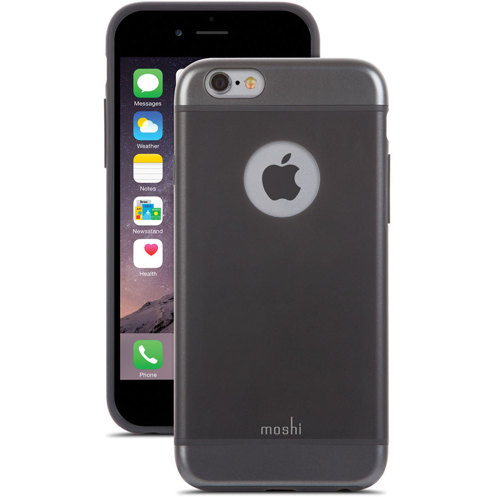 moshi iphone case moshi iglaze for iphone 6 6s graphite black 99mo079001 7367