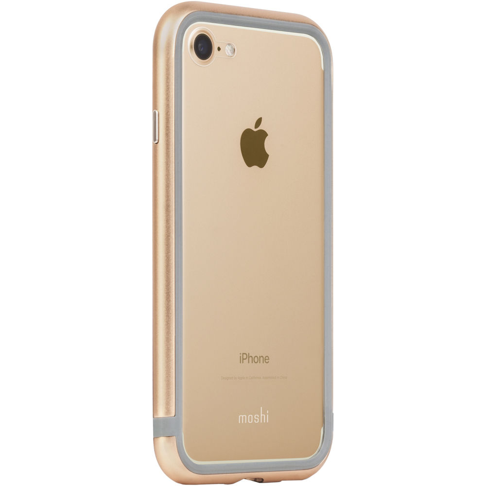 iphone 7 gold moshi luxe metal bumper for iphone 7 gold 11531