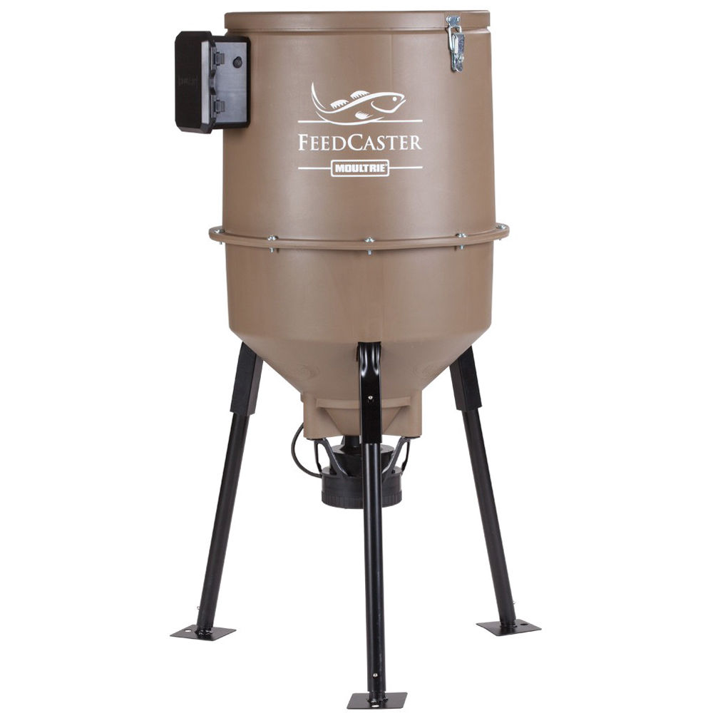 Moultrie 30 gallon feedcaster fish feeder mff 12655 b h photo for Moultrie fish feeder