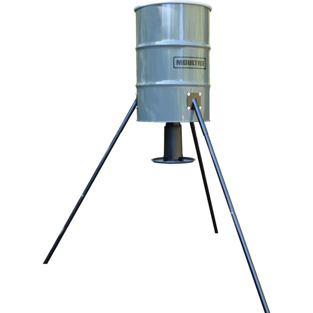 with barrel da feeder close top gallon up deer hinge view lid