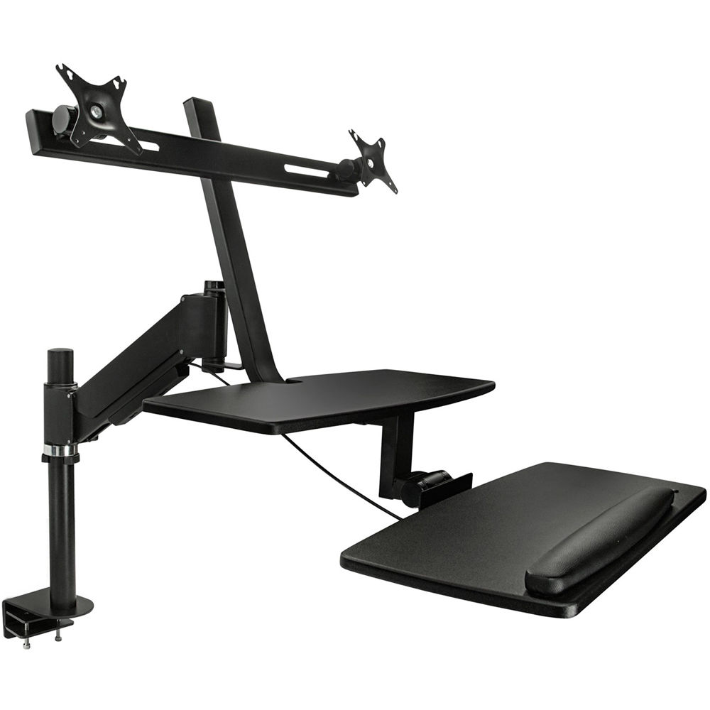 Mount It Mi 7902 Sit Stand Desk For Dual Monitors
