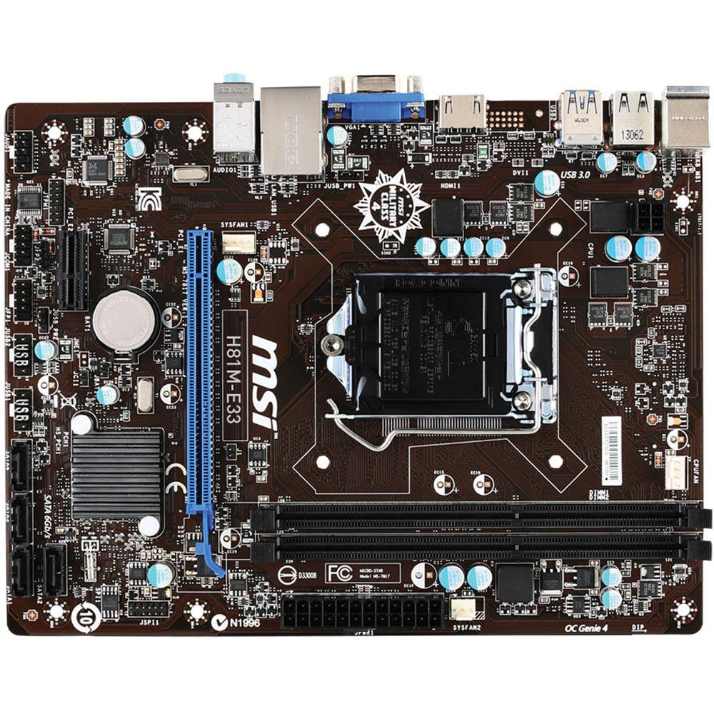 msi h81m p33 motherboard manual