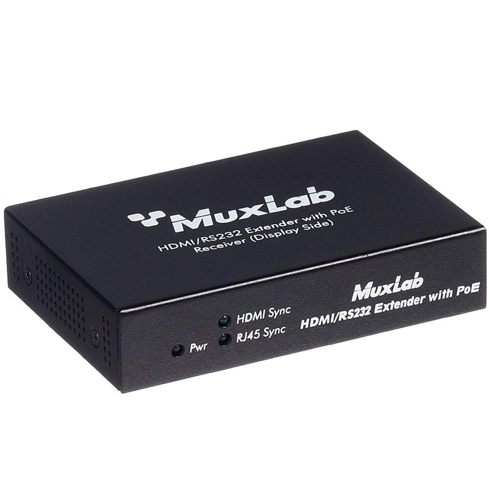 MuxLab HDMI / RS-232 Receiver with PoE 500454-POE-RX B&H Photo