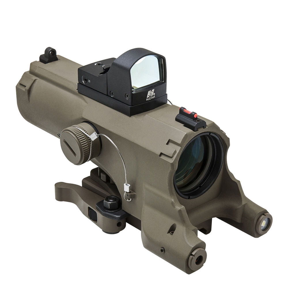 ncstar 4x34 eco laser led riflescope with green veco434qrtg a