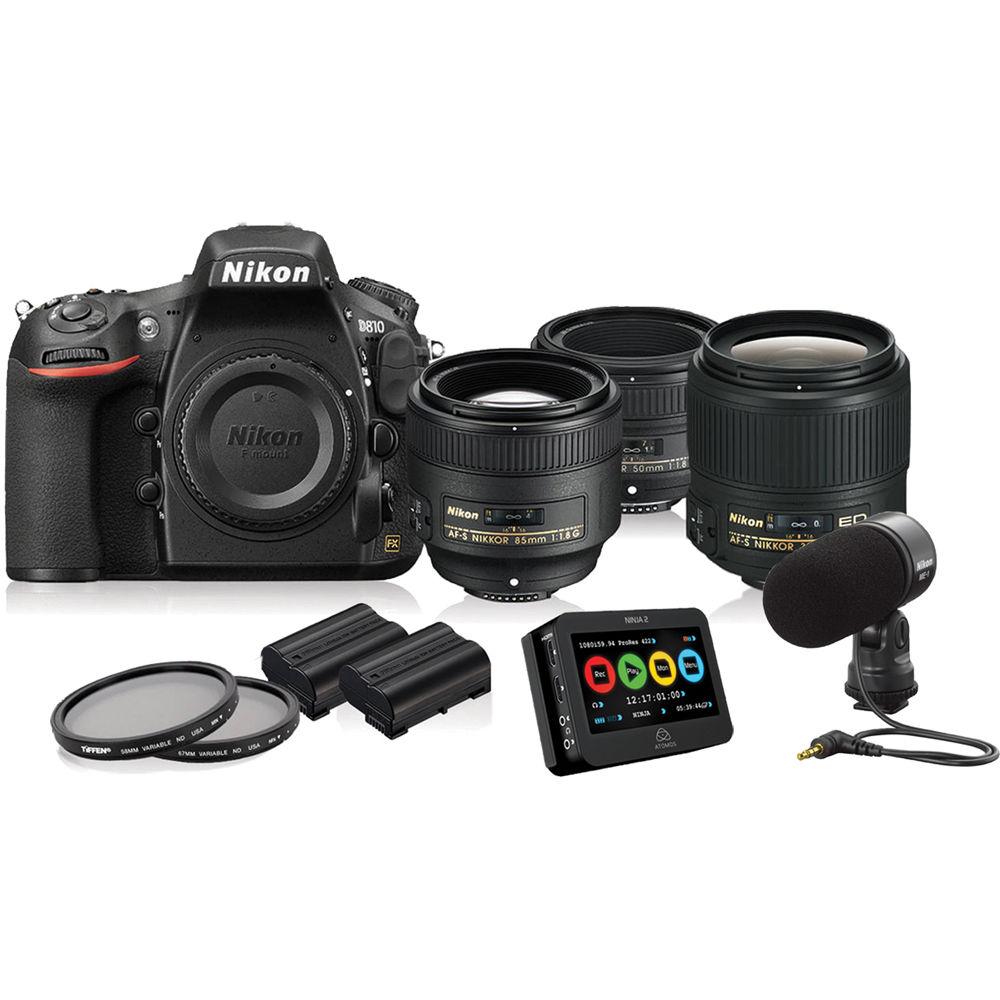 Nikon d810 dslr filmmaker s kit