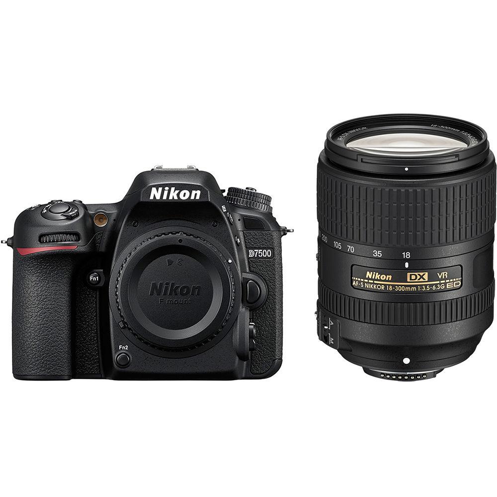 Nikon D7500 Dslr Camera With 18 300mm Lens Kit 13532 Bh Photo Skun Pcb Set 7500 5