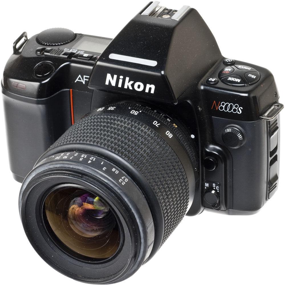 used nikon n8008s af 35mm slr autofocus camera with a promaster rh bhphotovideo com Nikon 8008 Lense D Nikon 8008 Lense D