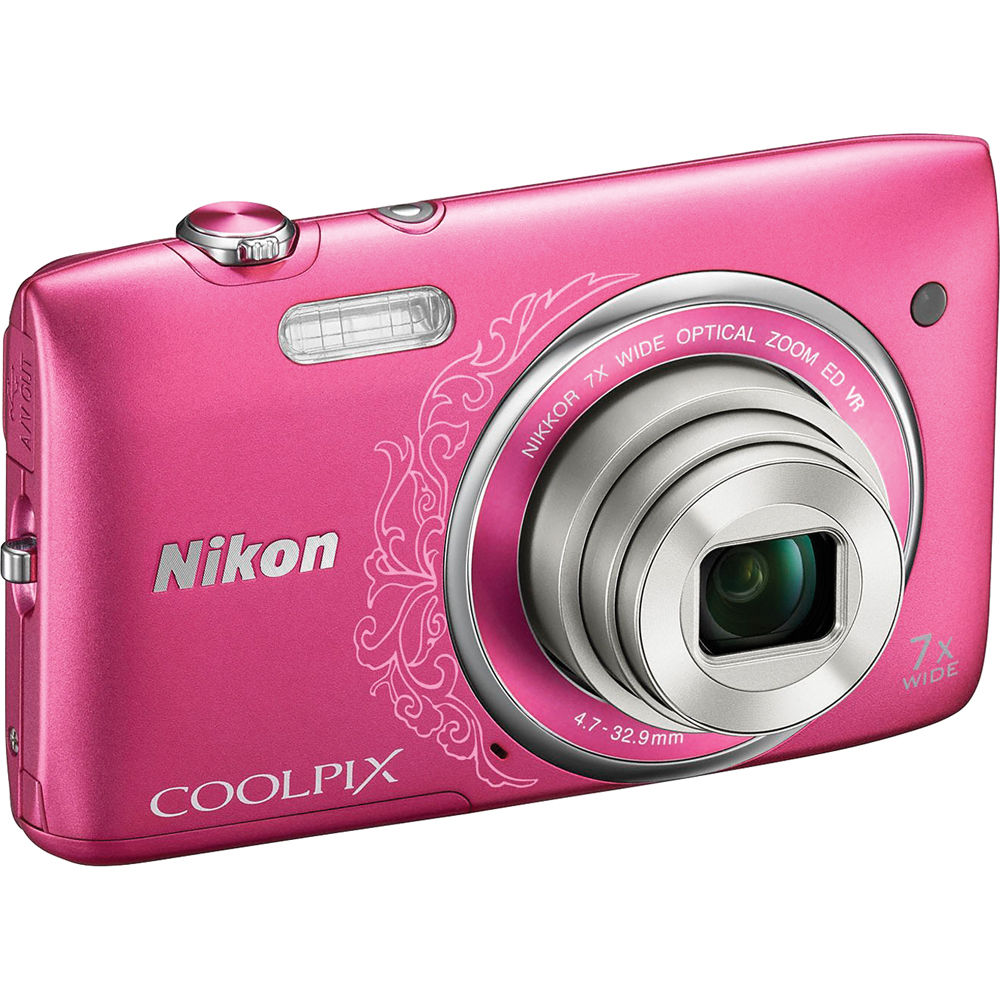 nikon coolpix s3500 digital camera decorative pink 26383 b h