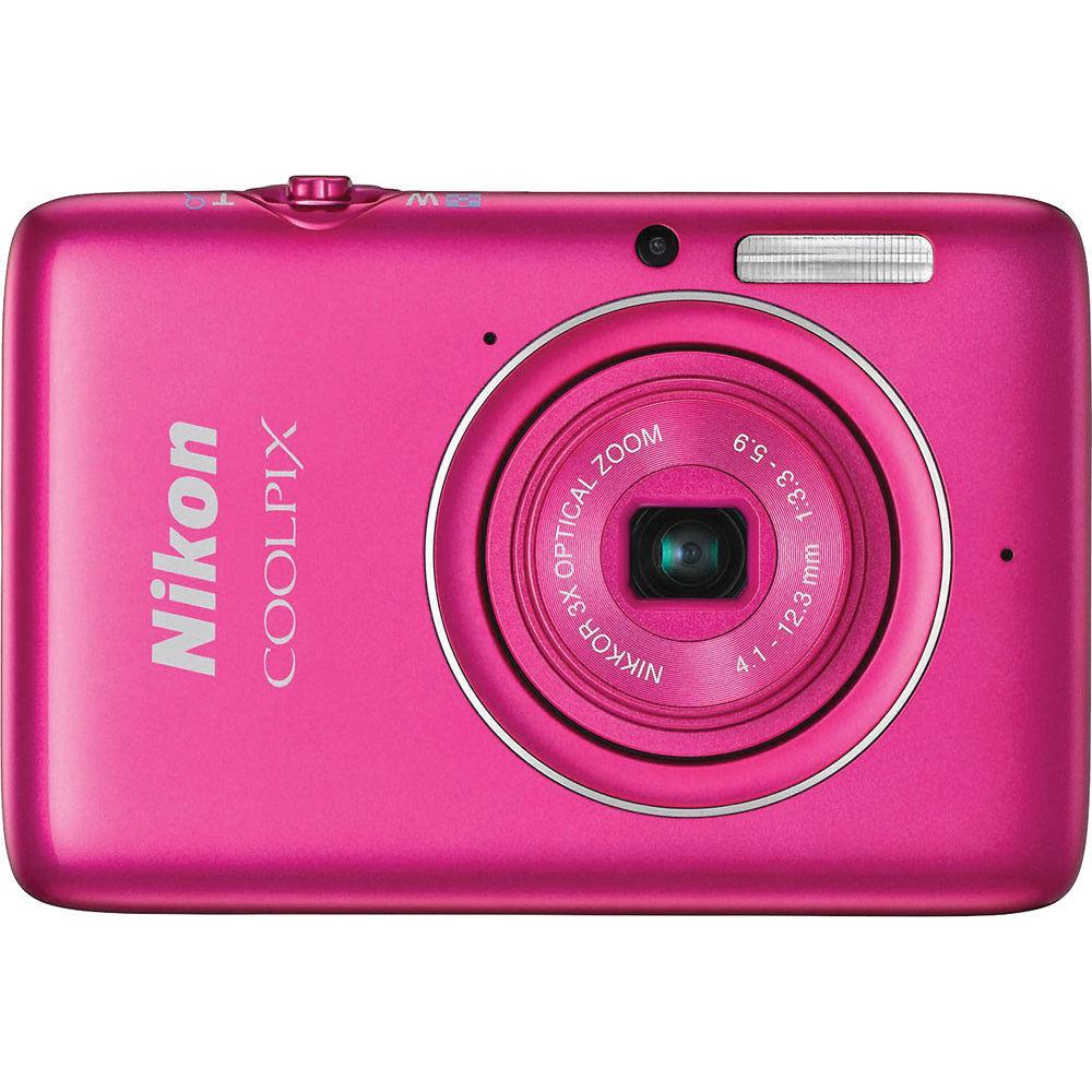 Nikon COOLPIX S02 Digital Camera (Pink) 26433 B&H Photo Video