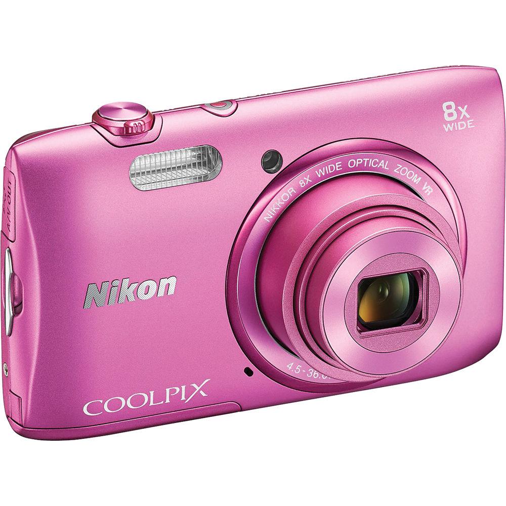 Nikon COOLPIX S3600 Digital Camera (Pink) 26455 B&H Photo
