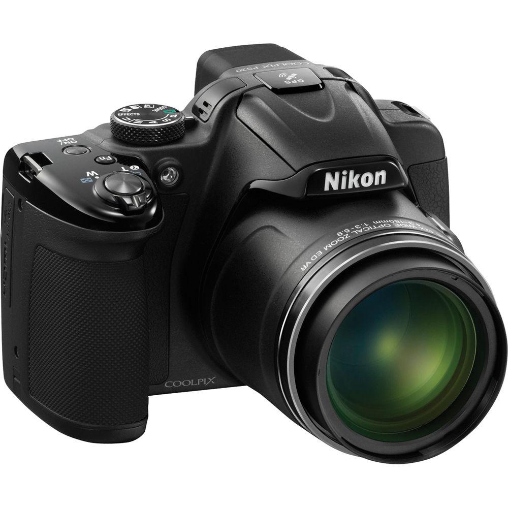 nikon coolpix p520 digital camera black 26397 b h photo video. Black Bedroom Furniture Sets. Home Design Ideas