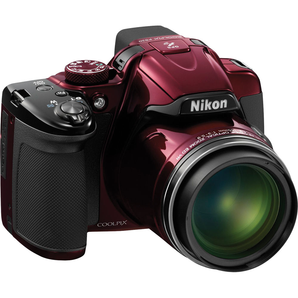 nikon coolpix p520 digital camera red 26398 b h photo video rh bhphotovideo com manual da camera nikon coolpix p520 em portugues Nikon P520 Guide