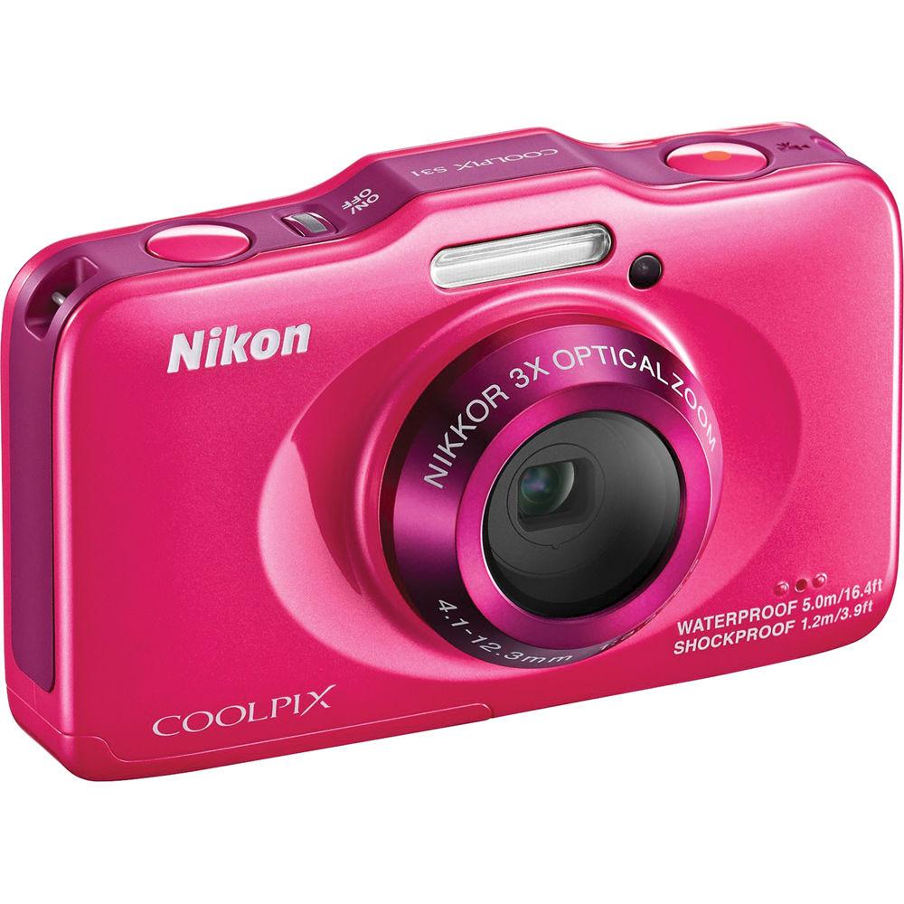 Nikon COOLPIX S31 Digital Camera (Pink) 26406 B&H Photo Video
