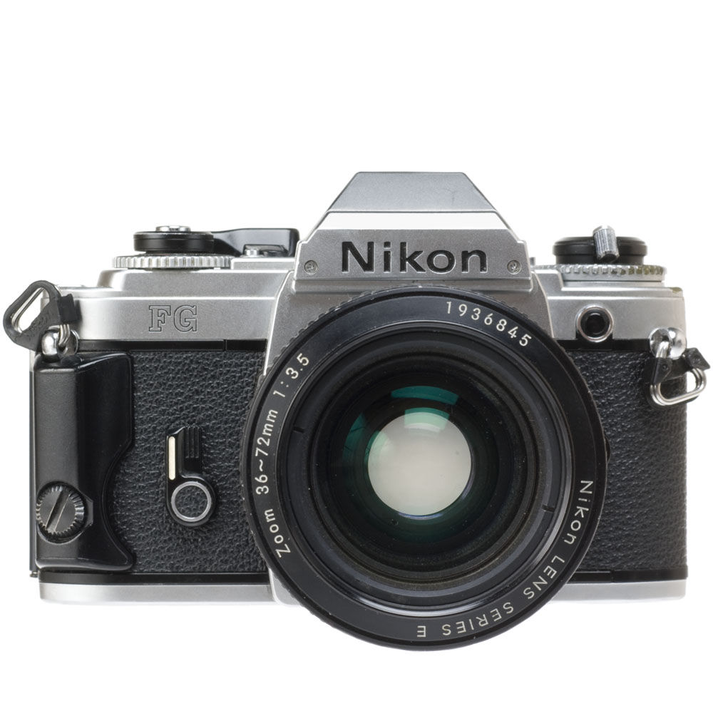 used nikon fg 35mm slr manual focus camera chrome b h photo rh bhphotovideo com Nikon FG Body Nikon FG Owner's Manual