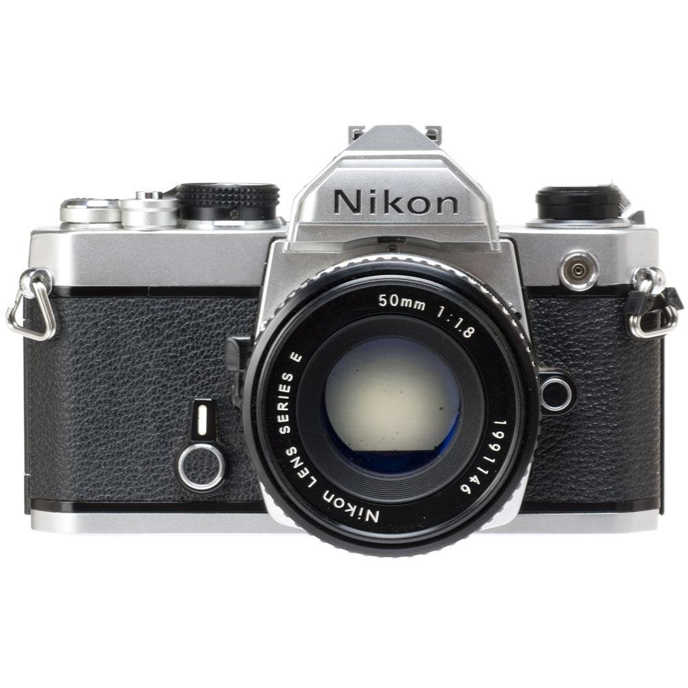 used nikon fm 35mm slr manual focus camera chrome with 50mm rh bhphotovideo com Zoom Lenses for Nikon Cameras Nikon Rangefinder Camera