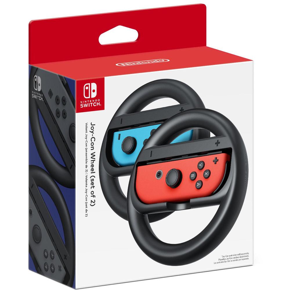 Nintendo Joy Con Wheel 2 Pack Black Hacabg2aa B Amp H Photo