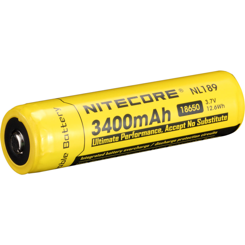 Nitecore 18650 Li Ion Rechargeable Battery Nl1834 Bh Protection Circuit Images 37v 3400mah