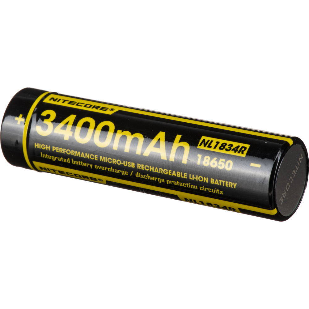 Nitecore 18650 Rechargeable Li Ion Battery Nl1834r Bh Photo Protection Circuit With Micro Usb 36v 3400mah